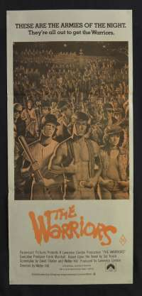 The Warriors 1979 Daybill movie poster 1980's RI Gangs Walter Hill