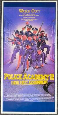 Police Academy 2 1985 Daybill movie poster Drew Struzan art