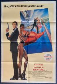 A View To A Kill Poster Original One Sheet 1985 Roger Moore James Bond Duran Duran