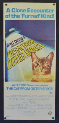 The Cat From Outer Space Movie Poster Original Daybill Ken Berry