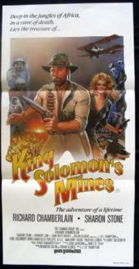 King Solomon's Mines 1985 Richard Chamberlain Daybill movie poster