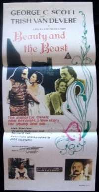 Beauty And The Beast Movie Poster Original Daybill George C Scott 1976