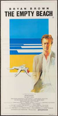 The Empty Beach 1985 movie poster Bryan Brown Australian Daybill