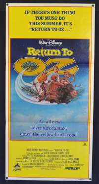 Return To Oz 1985 Daybill Movie Poster Nicol Williamson Jean Marsh