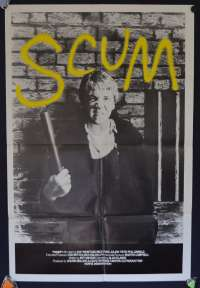 Scum 1980 Movie Poster Original One Sheet Ray Winstone Alan Clarke Prison