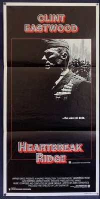 Heartbreak Ridge Daybill Movie Poster Original 1986 Clint Eastwood