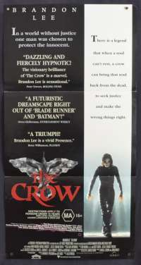 The Crow 1994 Daybill movie poster Brandon Lee