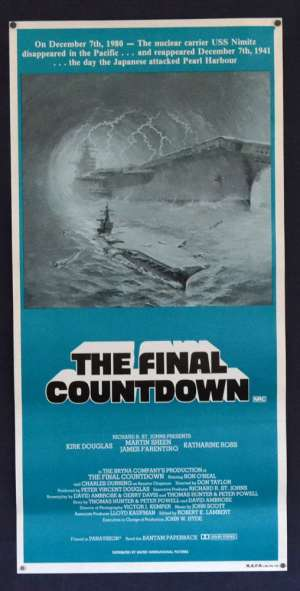 The Final Countdown Movie Poster Original Daybill Rolled Re-Issue Kirk Douglas