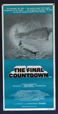 The Final Countdown Kirk Douglas Style B Daybill movie poster