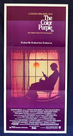 The Color Purple Movie Poster Daybill Whoopi Goldberg Oprah Winfrey Steven Spielberg