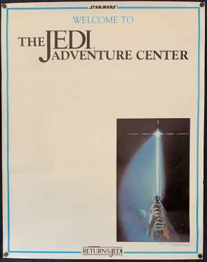 Return Of The Jedi Poster Original Promotional Mall 1983 Star Wars Adventure Centre
