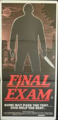 Final Exam 1980 Joel Rice Australian Daybill movie poster