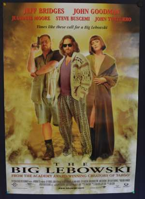 The Big Lebowski Movie Poster Original One Sheet 1998 Jeff Bridges John Goodman