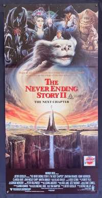 The Neverending Story 2 The Next Chapter Poster Original Daybill 1990 Brandis