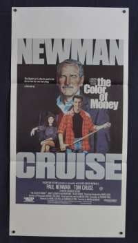 The Color Of Money 1986 Daybill movie poster Tom Cruise Paul Newman The Hustler
