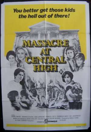 Massacre At Central High 1976 One Sheet movie poster Horror Robert Carradine