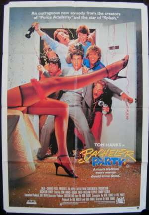 Bachelor Party Movie Poster Original One Sheet 1984 Tom Hanks Bucks Party