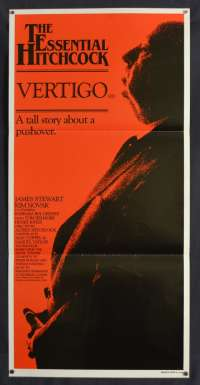 Vertigo Poster Original Daybill 1983 Re-Issue James Stewart Alfred Hitchcock