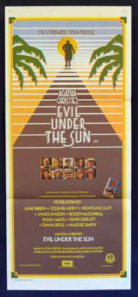 Evil Under The Sun poster Daybill Agatha Christie Peter Ustinov