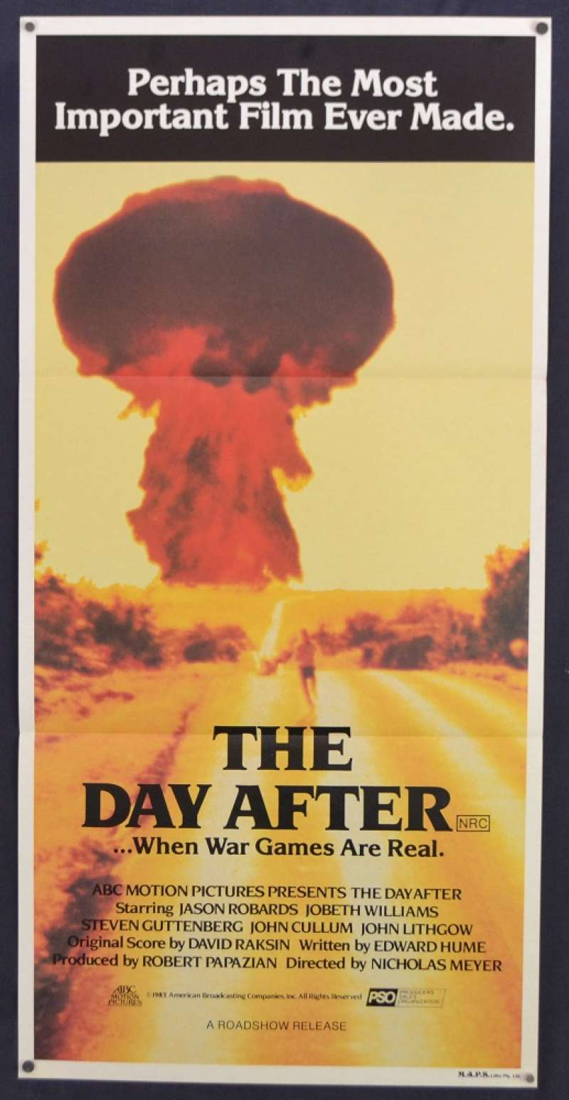All About Movies - The Day After Movie Poster Original Daybill 1983 Jason  Robards Nuclear War