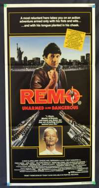 Remo: Unarmed And Dangerous Fred Ward Australian Daybill movie poster