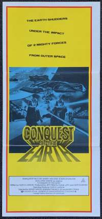 Conquest Of The Earth 1981 Daybill movie poster Battlestar Alternate art