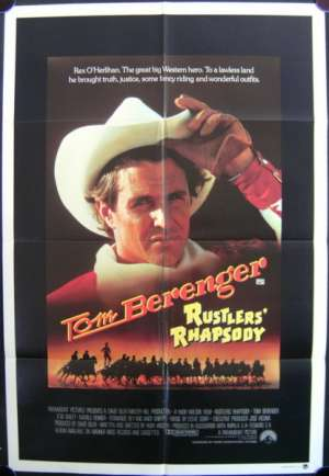 Rustlers' Rhapsody 1985 Tom Berenger One Sheet movie poster