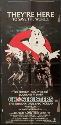 Ghostbusters Movie Poster Original Daybill Rolled NEVER Folded 1984 Bill Murray