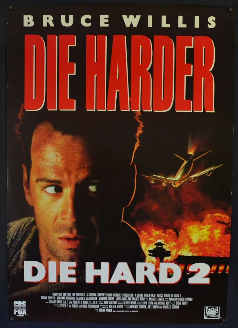 All About Movies Die Hard 2 Poster Original One Sheet Video Poster Bruce Willis