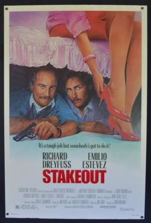 Stakeout Poster Original One Sheet USA ROLLED 1987 Richard Dreyfuss