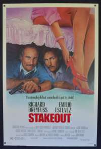 Stakeout 1987 One Sheet movie poster USA rolled Richard Dreyfuss Estevez