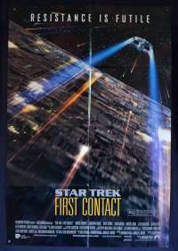 Star Trek First Contact 1996 One Sheet movie poster D/S Patrick Stewart Borg