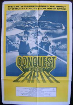 Conquest Of The Earth 1981 movie poster Battlestar Australian One Sheet