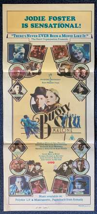 Bugsy Malone 1976 Jodie Foster Scott Baio Daybill movie poster