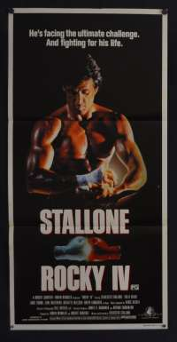 Rocky IV Movie Poster Original Daybill 1985 Sylvester Stallone Dolph Lundgren Boxing