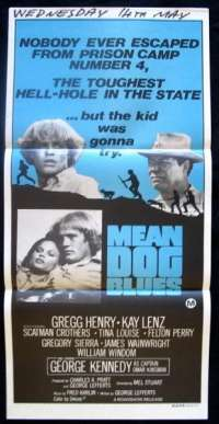 Mean Dog Blues Daybill Movie poster