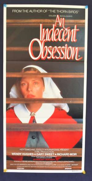 An Indecent Obsession 1984 Daybill Movie Poster Wendy Hughes Gary Sweet
