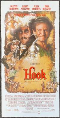 Hook 1991 Rare Daybill movie poster Drew Struzan Art Robin Williams Julia Roberts