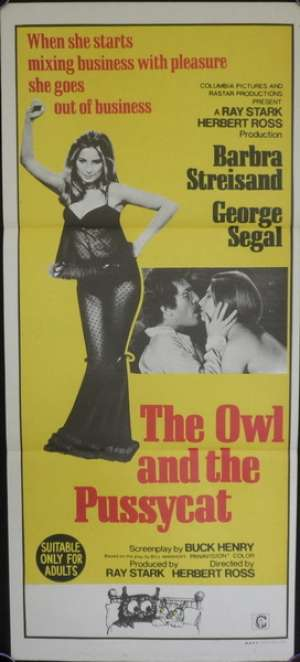 Owl And The Pussycat, The Daybill Movie poster