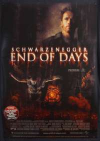 End Of Days Poster One Sheet Original 1999 Schwarzenegger Horror Satan