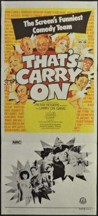 That's Carry On Movie Poster Original Daybill 1977 Kenneth Williams Barbara Windsor