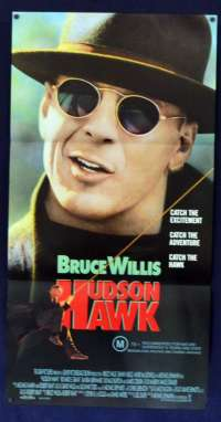 Hudson Hawk 1991 Daybill Movie poster Bruce Willis Danny Aiello