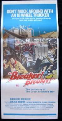 Breaker! Breaker! 1977 Daybill movie poster Chuck Norris Martial Arts