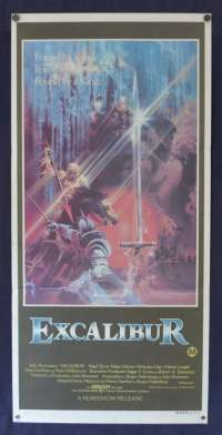 Excalibur 1981 Daybill movie poster Helen Mirren Nigel Terry