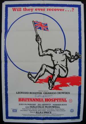 Britannia Hospital One Sheet Australian Movie poster