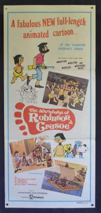 The Adventures Of Robinson Crusoe Movie Poster Original Daybill Animation