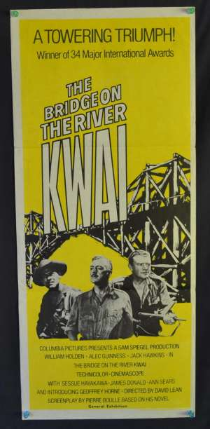 The Bridge On The River Kwai Daybill movie poster Alec Guinness