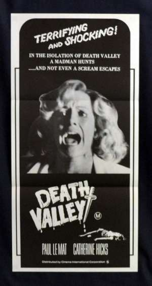 Death Valley 1982 movie poster Daybill Paul Le Matt Catherine Hicks