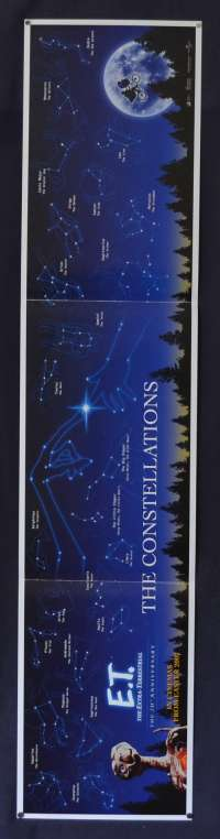 E.T. The Extra-Terrestrial Poster 20th Anniversary promotional Constellation Art