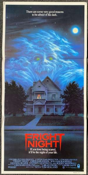 Fright Night Poster Original Daybill 1985 Chris Sarandon Roddy McDowall
